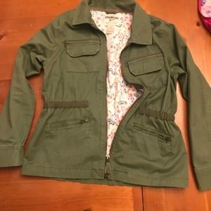 Army green jacket for girls